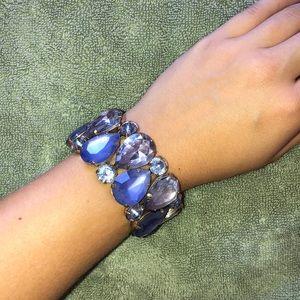Blue jewel bracelet